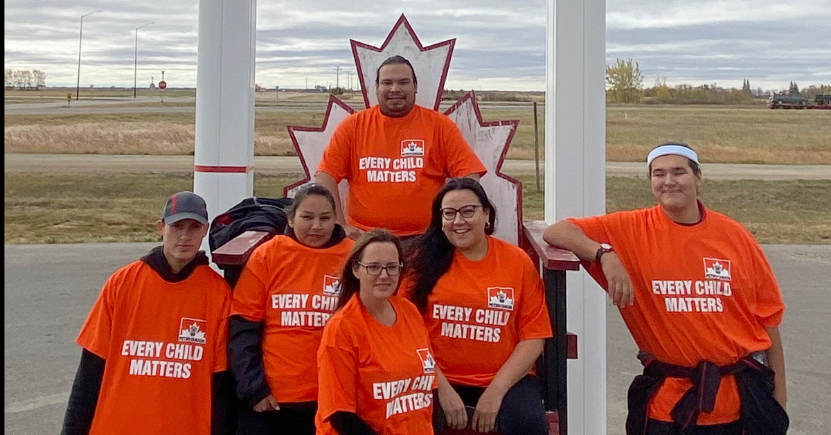Team at the Sioux Valley Petro-Canada