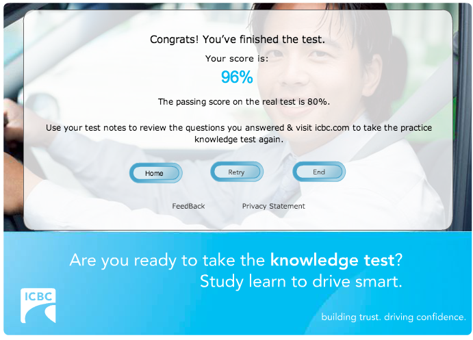 Practice Test Results