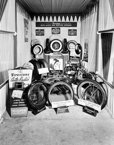 Tires and Car Radio exhibit
