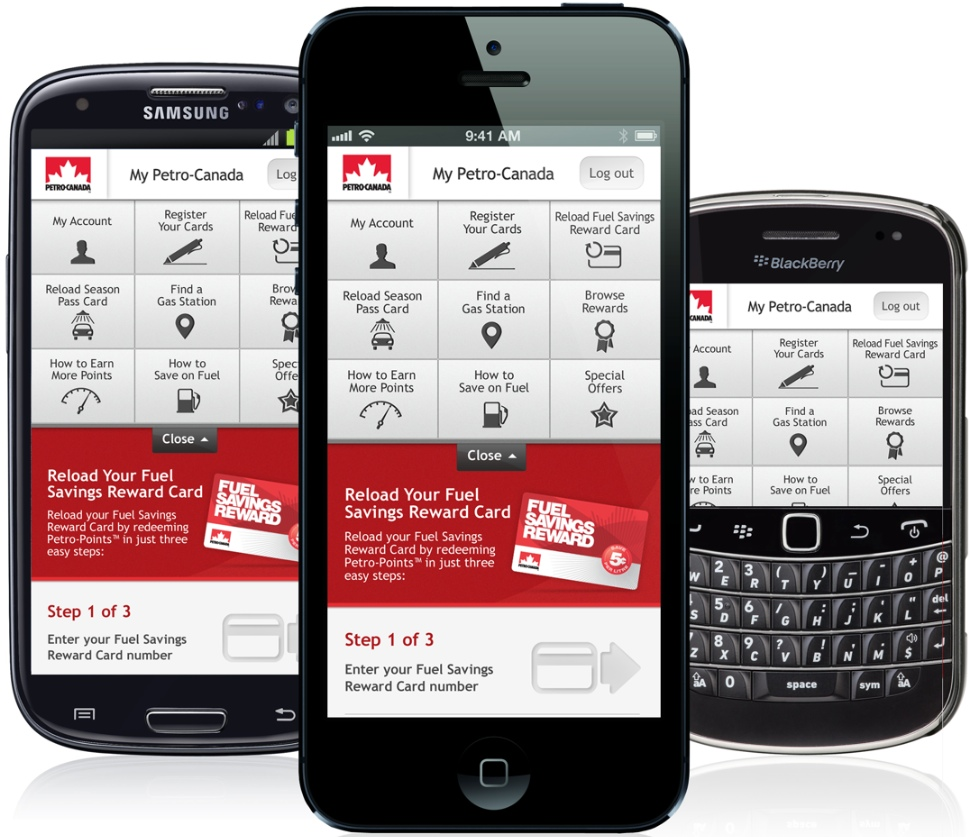 Site mobile de Petro-Canada
