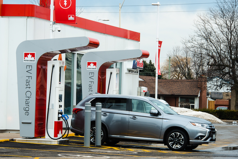 Petro-Canada EV Charger in Milton