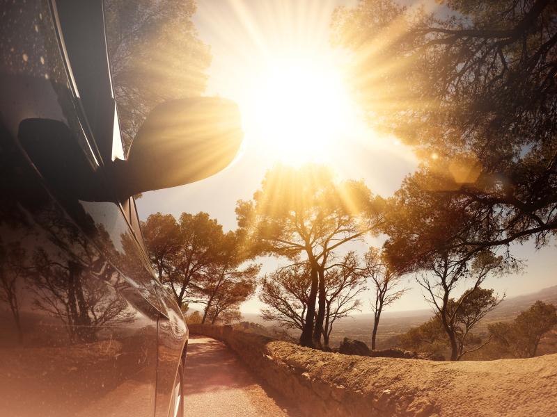 Sunny day, hot car