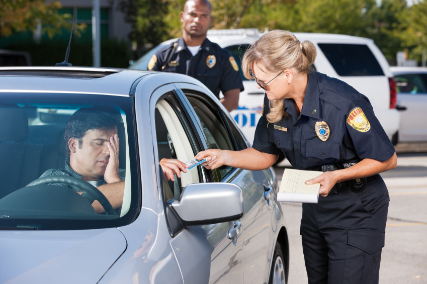 Getting a traffic ticket
