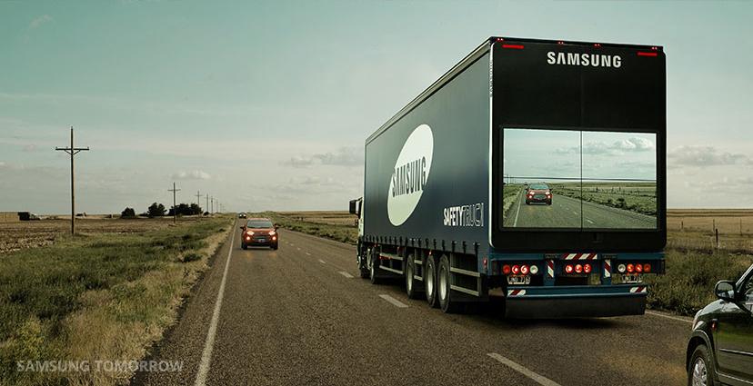 Camion « transparent » Samsung