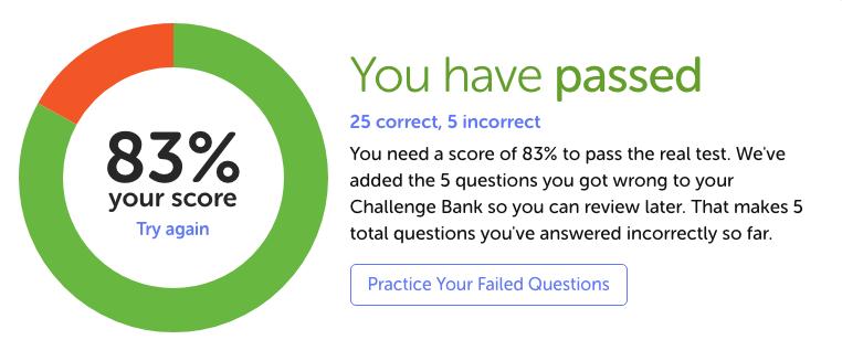 Alberta knowledge test results