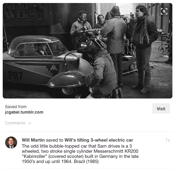 Car on the set of Brazil