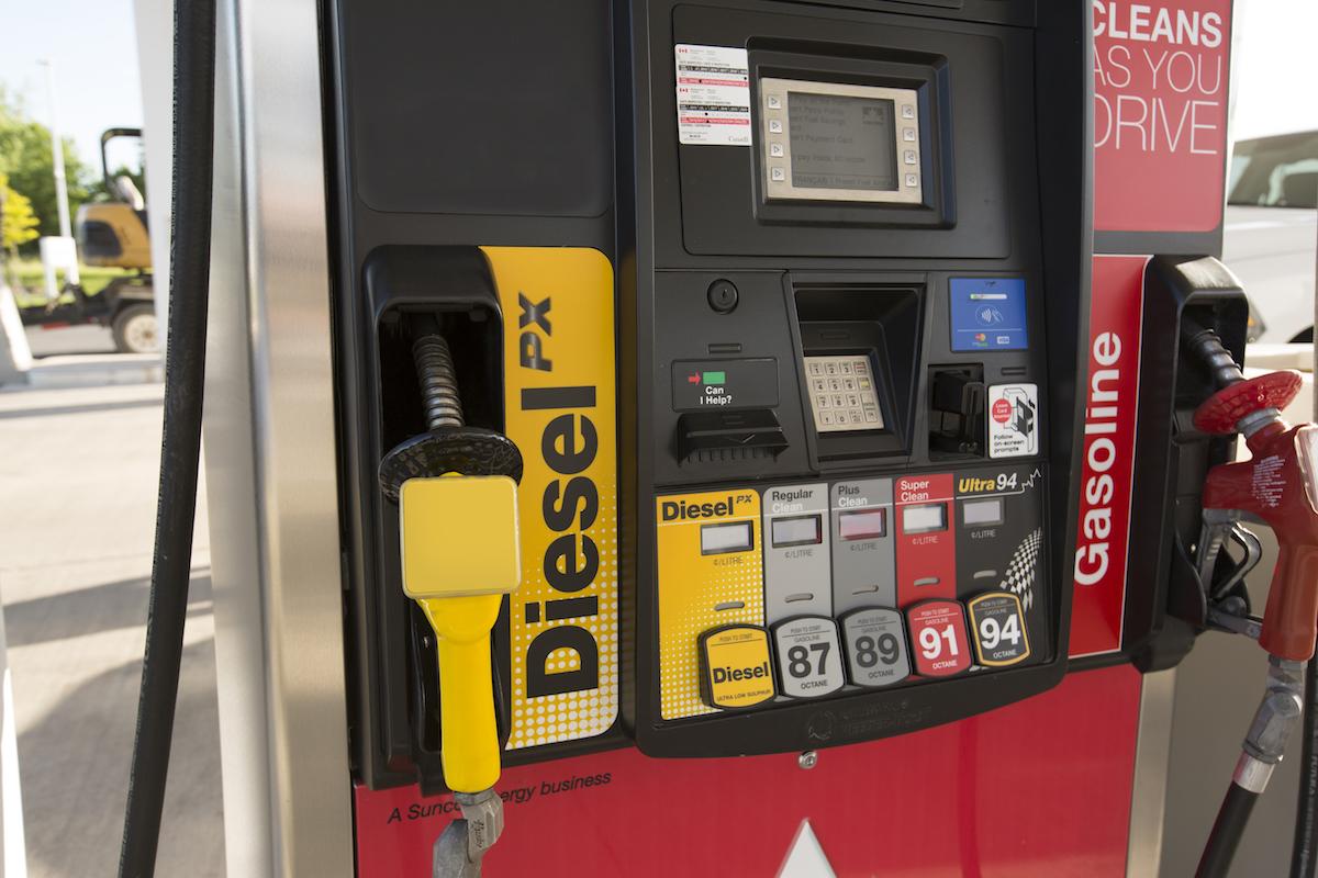 Petro-Canada gas pump