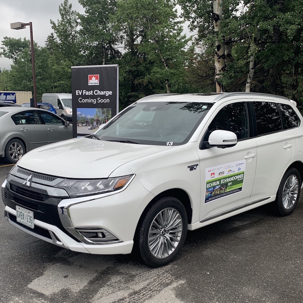 2019 EcoRun - Car at Petro-Canada Station in Canmore