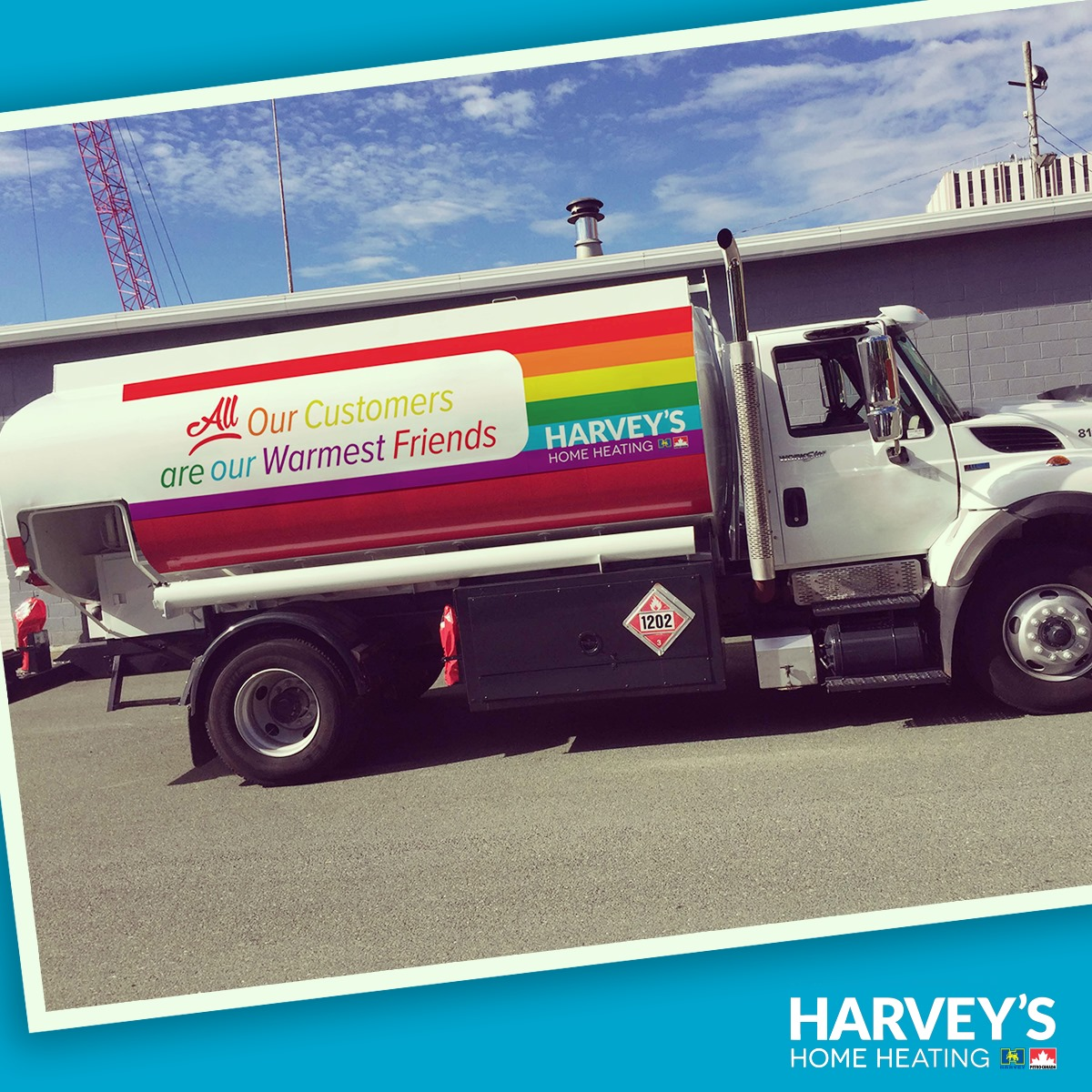 Harvey's Home Heating Truck at Pride