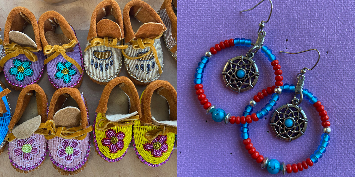 Traditional handicrafts for sale at Misty Petroleum