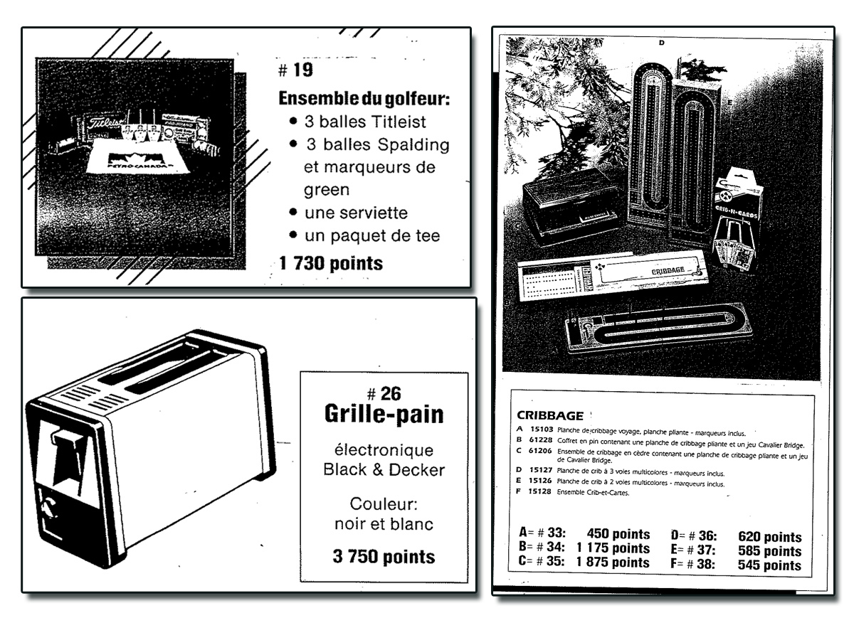 Items from Early Petro-Points Catalog