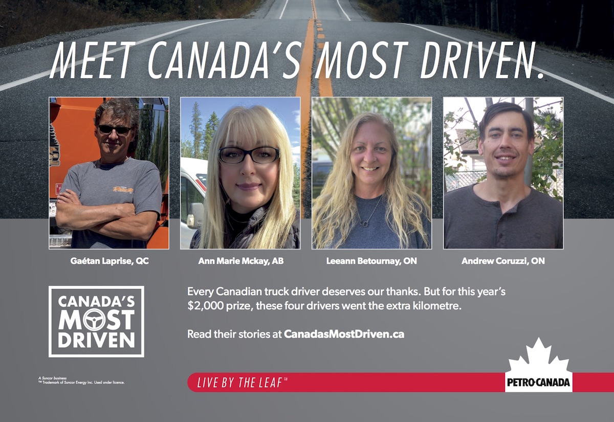 Winners of 2021 Canada's Most Driven Contest